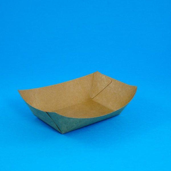 Boat-Shaped Kraft Food Tray No 4 (100 pcs)