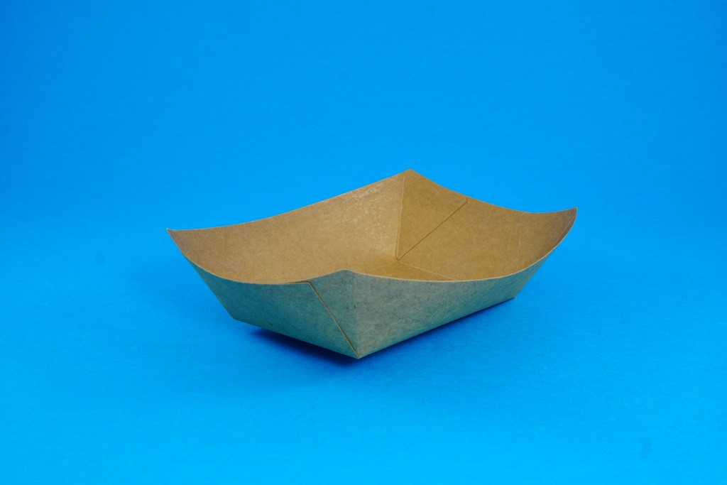 Boat-Shaped Kraft Food Tray No 5 (100 pcs)