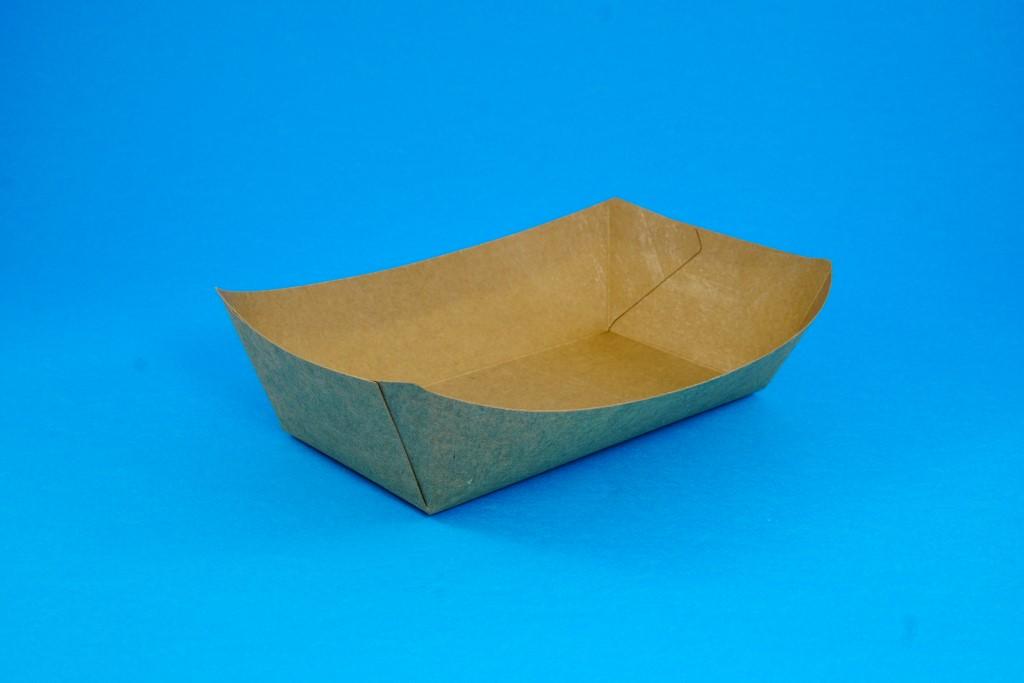 Boat-Shaped Kraft Food Tray No 6 (100 pcs)