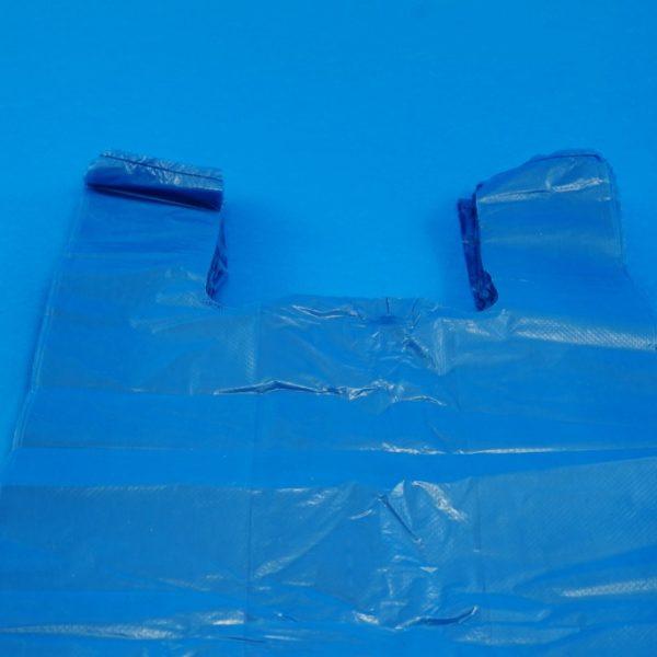 Blue Vest Carrier Bags