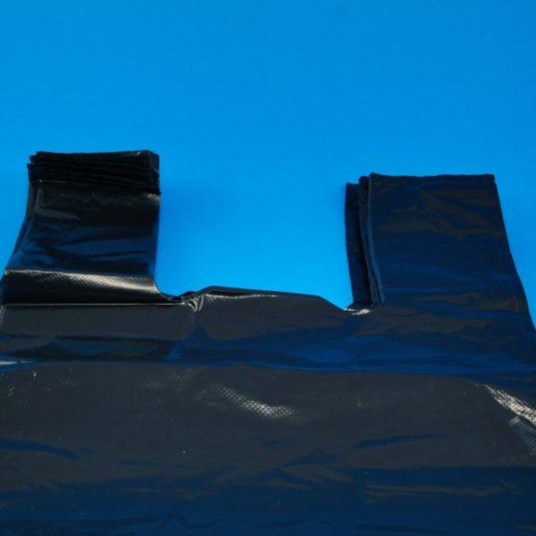 Black Vest Carrier Bags